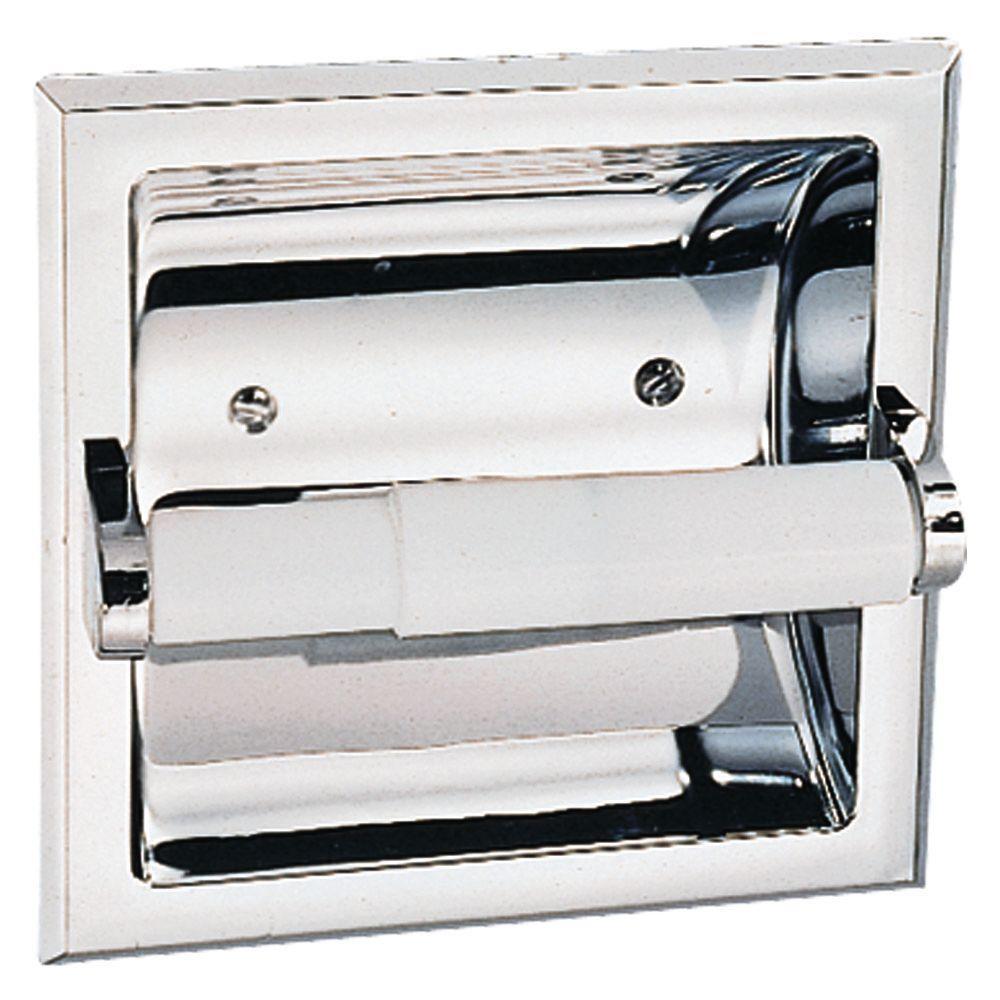 Design House Millbridge Recessed Toilet Paper Holder In Polished