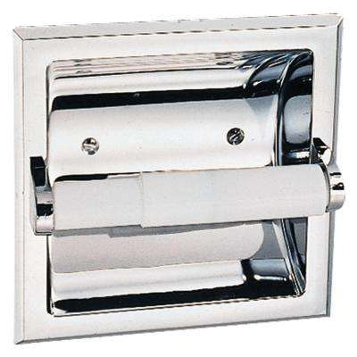 Millbridge Recessed Toilet Paper Holder in Polished Chrome