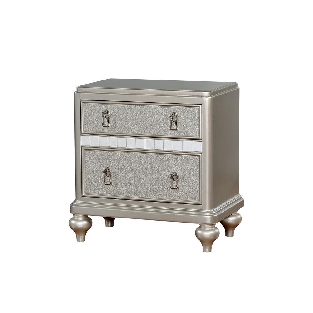William S Home Furnishing Avior Silver Contemporary Style