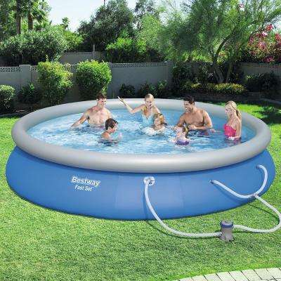 Fast Set 15 ft. Round x 33 in. Deep Inflatable Pool with 330 GPH Filter Pump