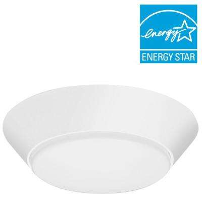 Versi Lite 9-Watt Textured White Integrated LED Flushmount