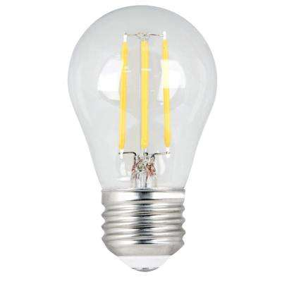 60W Equivalent Daylight (5000K) A15 Dimmable Filament LED Medium Base Clear Light Bulb (Case of 24)