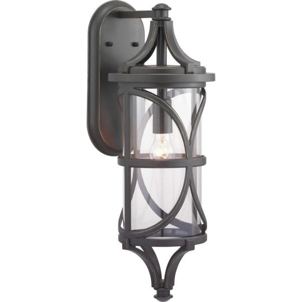 Morrison Collection 1-Light Antique Bronze Outdoor Wall Lantern Sconce