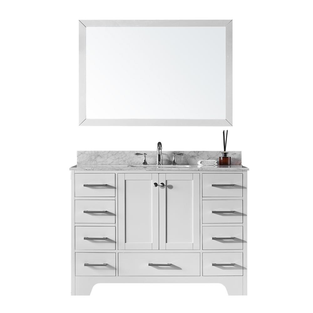 Exclusive Heritage 48 in. Single Sink Bathroom Vanity in White with ...