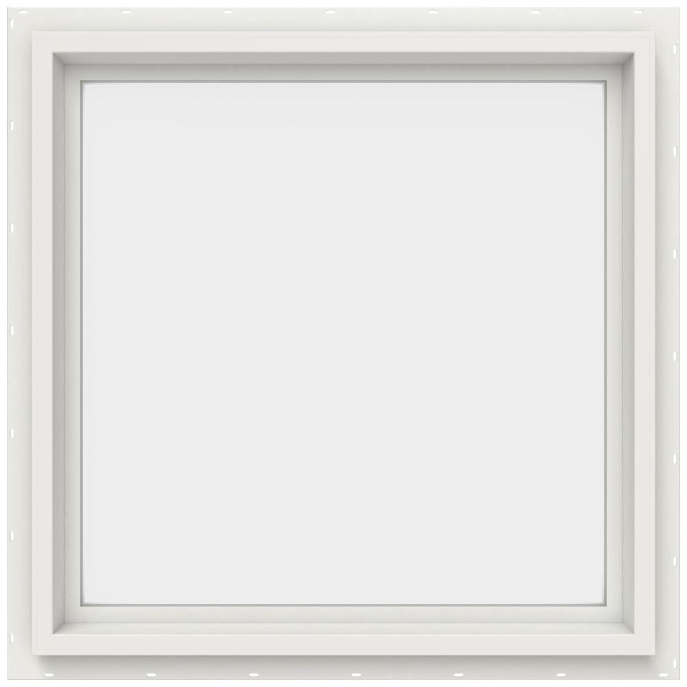 JELD-WEN 23.5 in. x 23.5 in. V-4500 Series White Vinyl Picture Window w/ Low-E 366 Glass