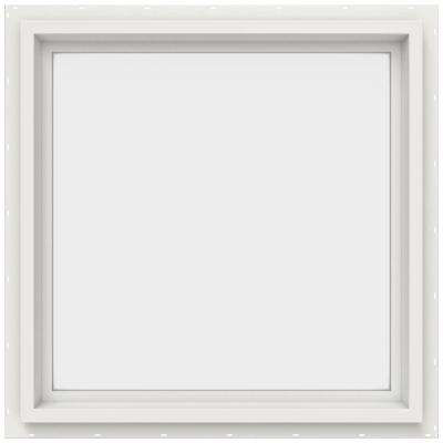 23.5 in. x 23.5 in. V-4500 Series Fixed Picture Vinyl Window in White