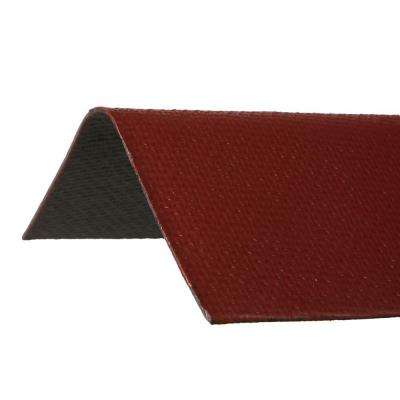 3.29 ft. x 12-1/2 in. Ridge Cap Asphalt Roof Panel in Red