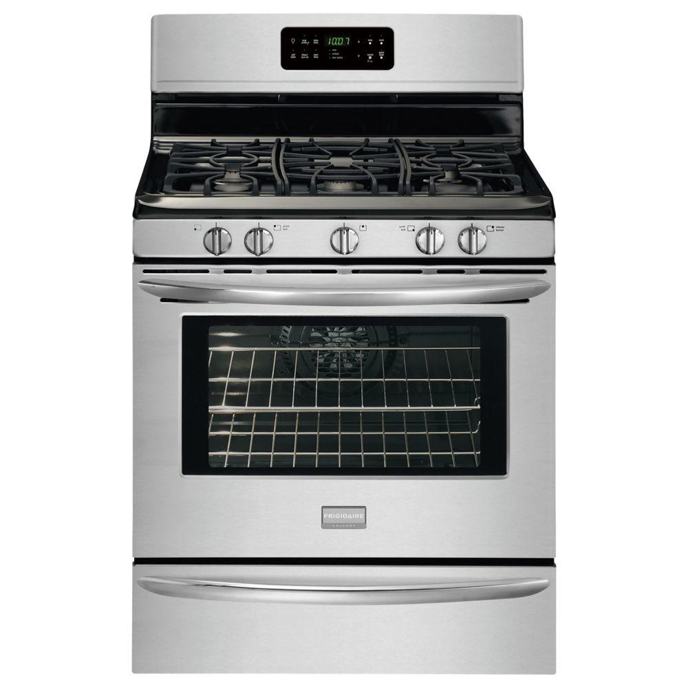 Frigidaire Gallery 30 in. 5.0 cu. ft. Gas Range with Self-Cleaning Convection Oven in Stainless Steel