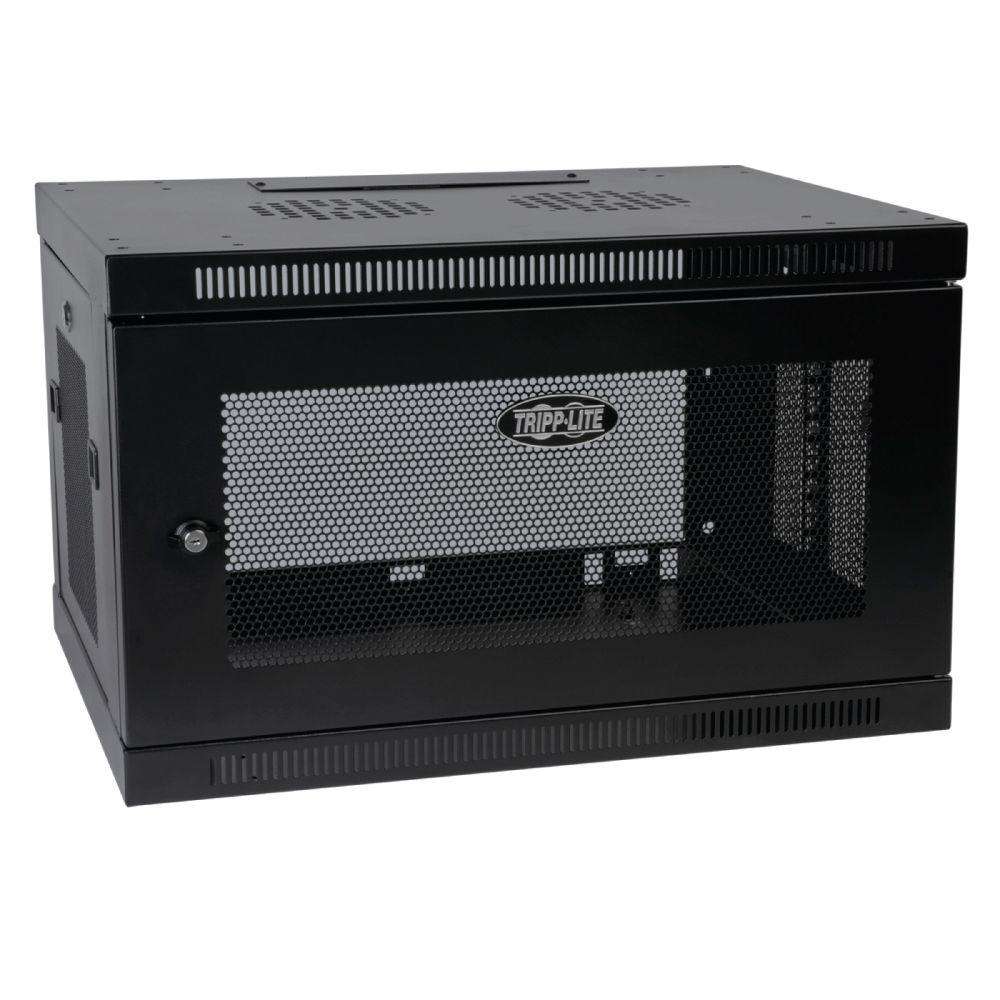 6U Wall Mount Rack Enclosure Cabinet Wallmount with Door and Sides