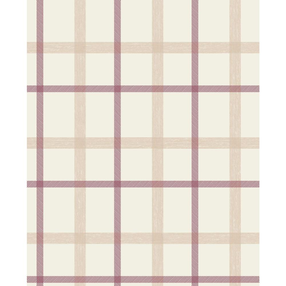 Brown Plaid Wallpaper: Graham & Brown Plaid Wallpaper-20-540