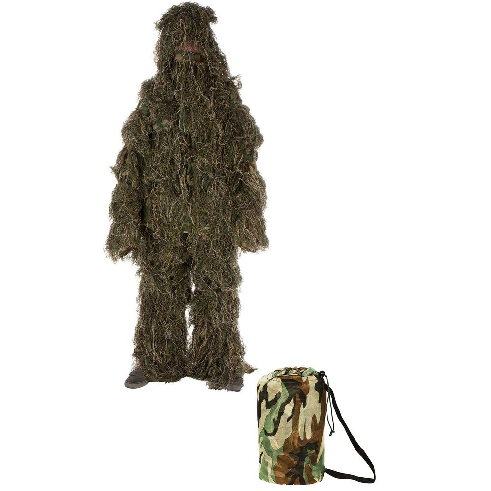 One Size Fit... Modern Warrior Woodland and Forest Design Ghillie Suit 3-Piece