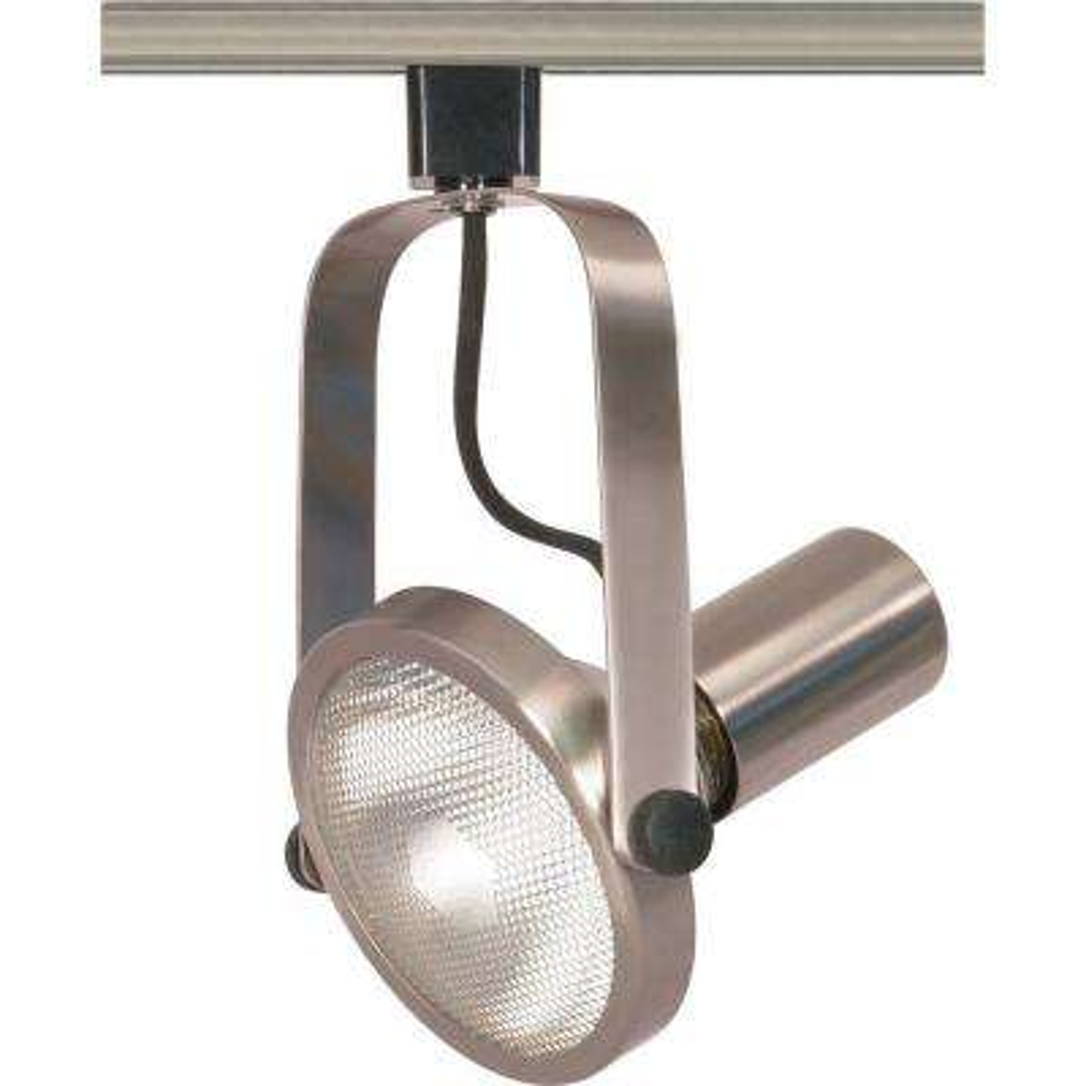 1-Light PAR38 Brushed Nickel Gimbal Ring Track Lighting Head