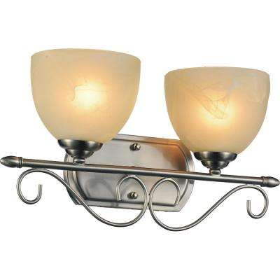 Selena 2-Light Satin Nickel Sconce