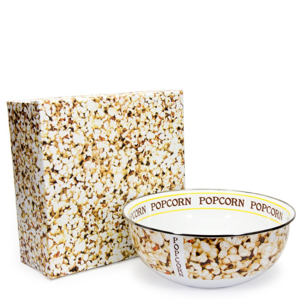 Popcorn 4.5 qt. Enamelware Popcorn Bowl with Gift Box