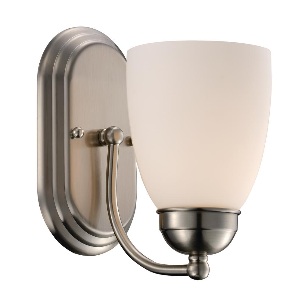 Clayton 1-Light Brushed Nickel Sconce