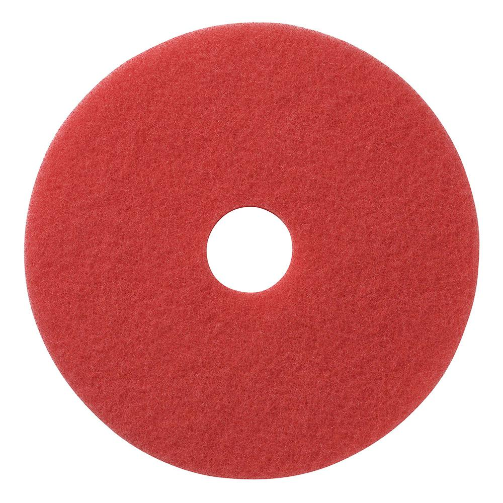 13 in. Red Daily Floor Cleaning and Buffing Pad (5-Pack)