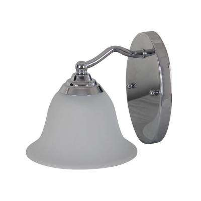 1-Light Chrome Plated Sconce