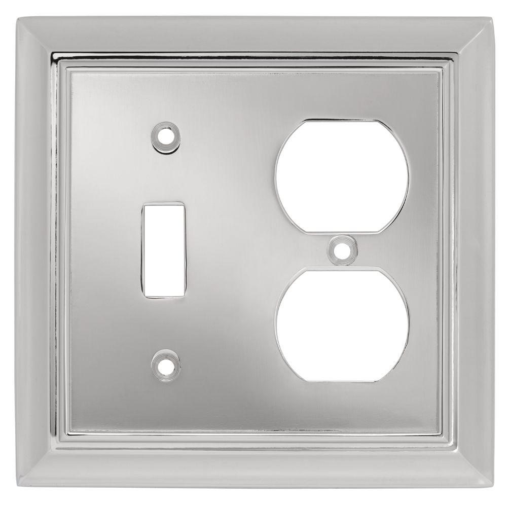 Liberty Architectural Die-Cast Zinc 2 Gang Combination Toggle Switch/Duplex Wall Plate