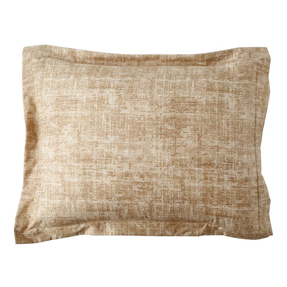 Ankara Textured Gold Cotton Standard Sham