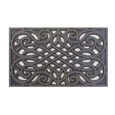 Grey 18 in. x 30 in. Door Mat