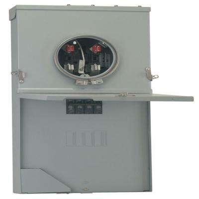 PowerMark Gold 200 Amp 4-Space 8-Circuit Meter Socket Load Center