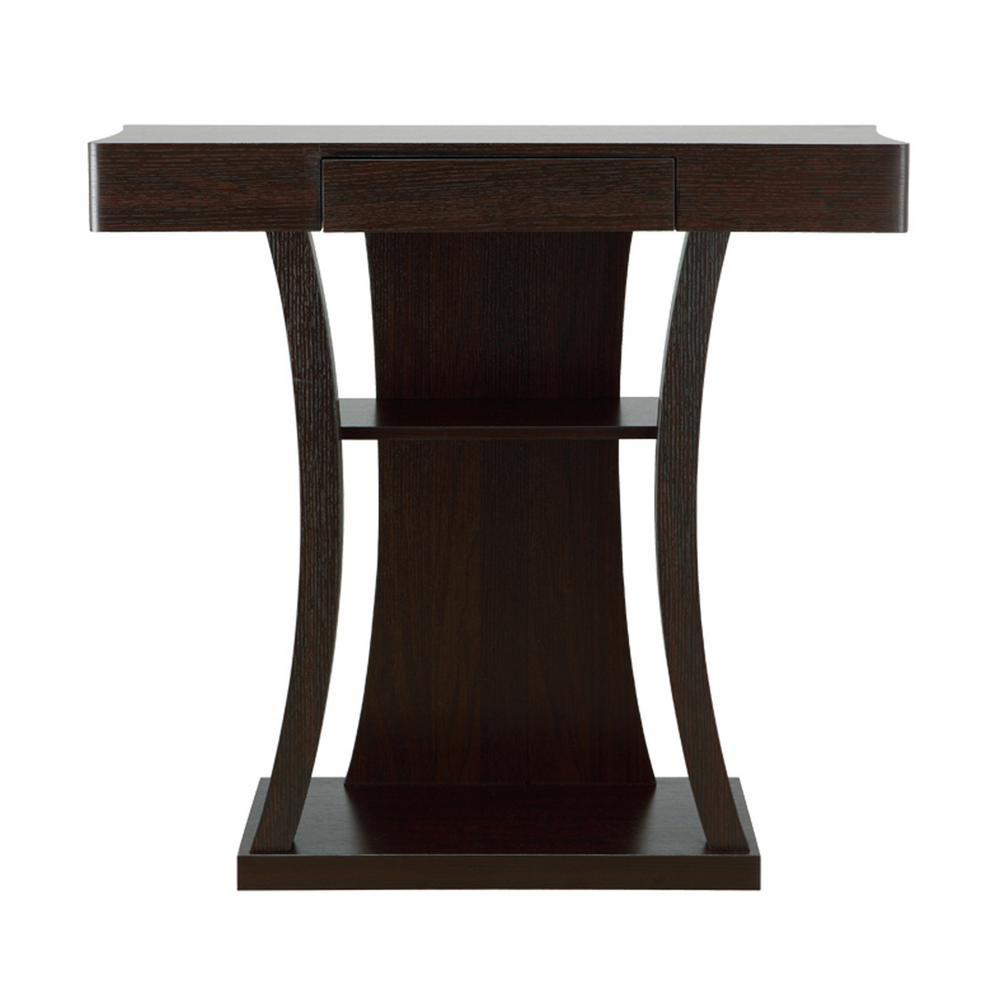 Alethea Cappuccino Console Table