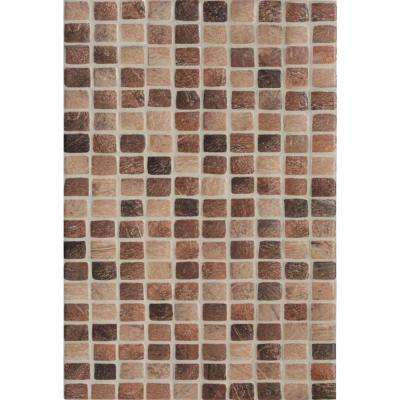 Amalfi Cafe Interlocking 12 in. x 12 in. x 6mm Glass and Porcelain Mesh-Mounted Mosaic Tile (15 sq. ft. / case)