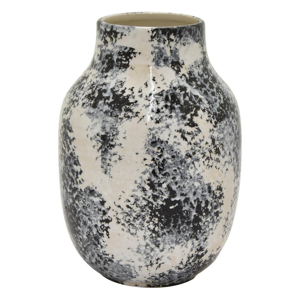 11.5 in. Black Ceramic Vase