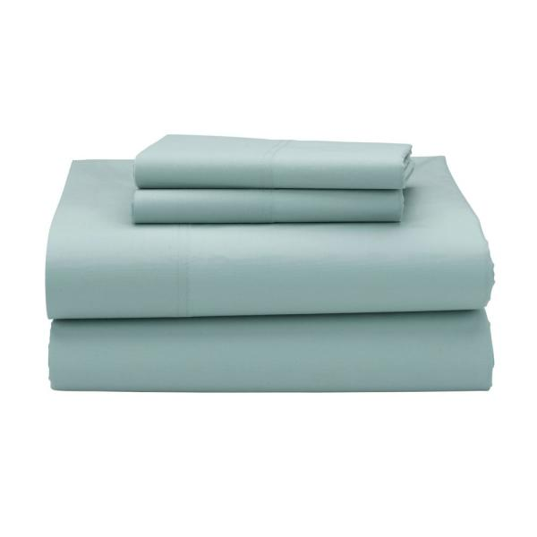 The Company Store 3-Piece Pale Blue 300 Thread Count Percale Twin