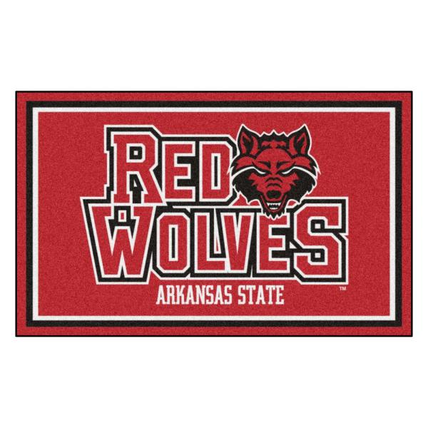NCAA - Arkansas State University Red 4 ft. x 6 ft. Area Rug