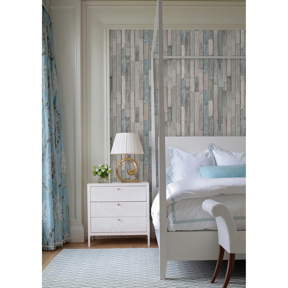 Brewster Barn Board Grey Thin Plank Wallpaper Fd23273 The