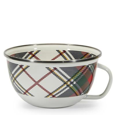 24 oz. Highland Plaid Enamelware Popcorn Sharing Bowl