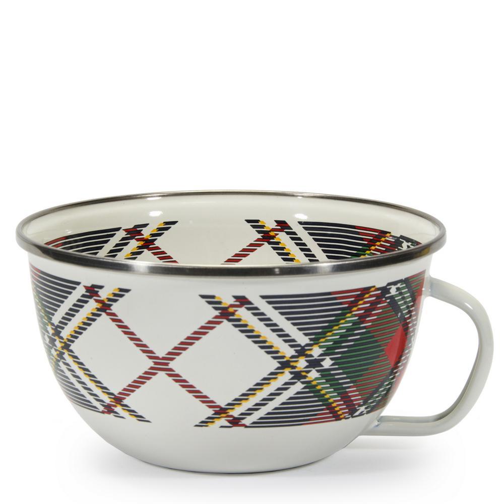 24 oz. Highland Plaid Enamelware Popcorn Sharing Bowl