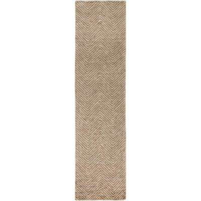 Beires Tan 3 ft. x 10 ft. Runner Rug