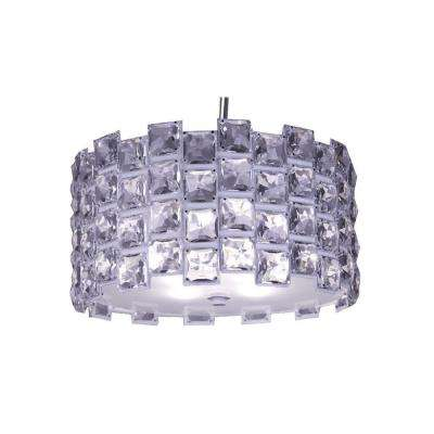 Sky 4-Light Chrome Crystal Hanging Chandelier