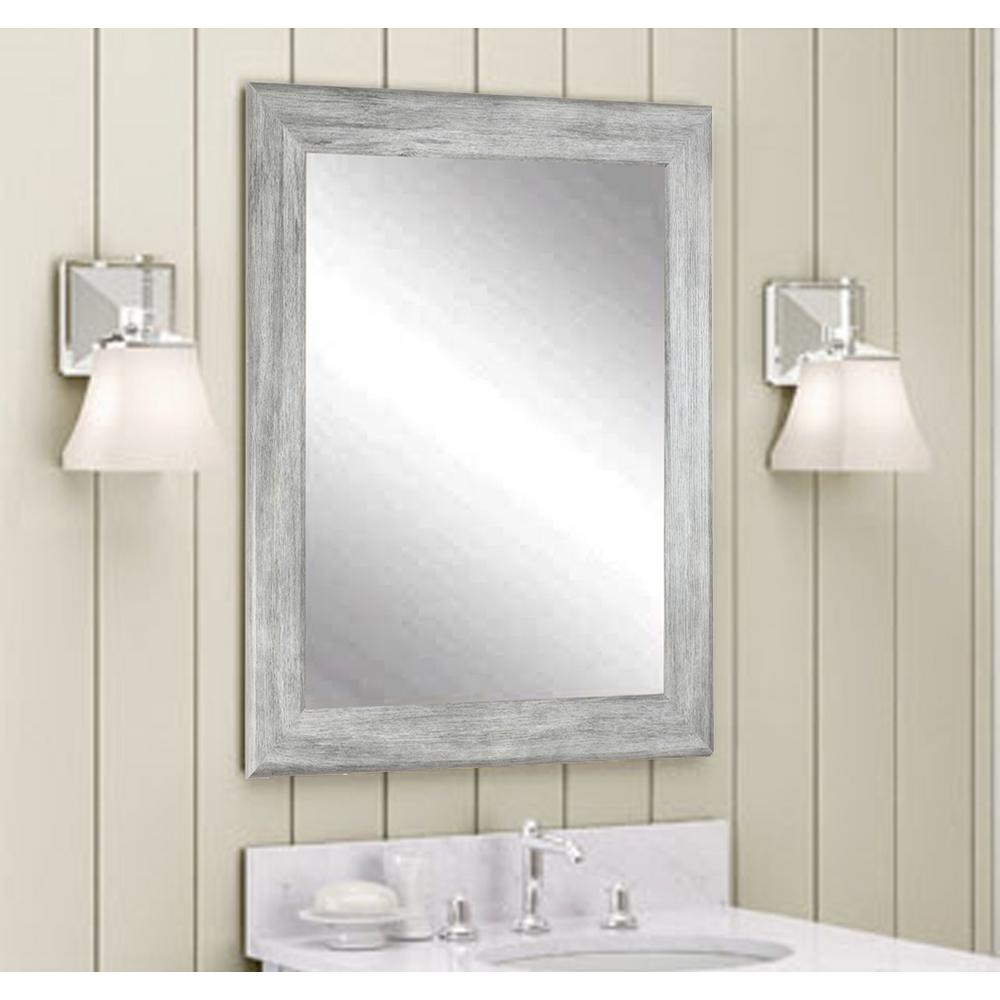 Brandtworks Weathered Gray Wall Mirror Bm035m3 The Home Depot - Unique-wall-mirrors-from-opulent-items