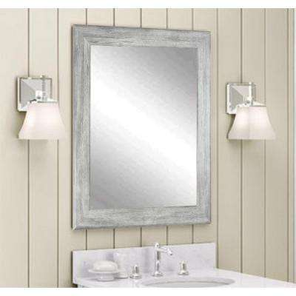 Weathered Gray Wall Mirror