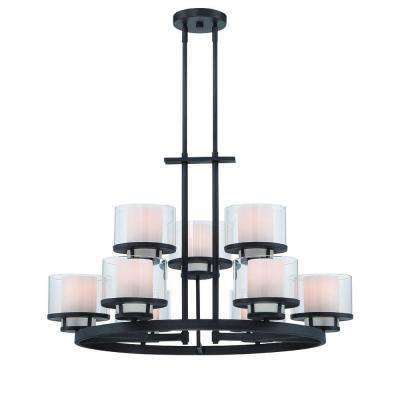 Fusion 9-Light Biscayne Bronze Interior Incandescent Chandelier