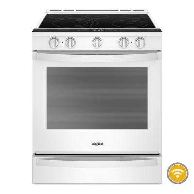 6.4  cu. ft. Smart Slide-In Electric Range with FROZEN BAKE Technology in White