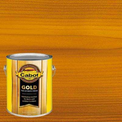 1 gal. Sun-Drenched Oak Gold Oil Exterior Deck Varnish, VOC Compliant