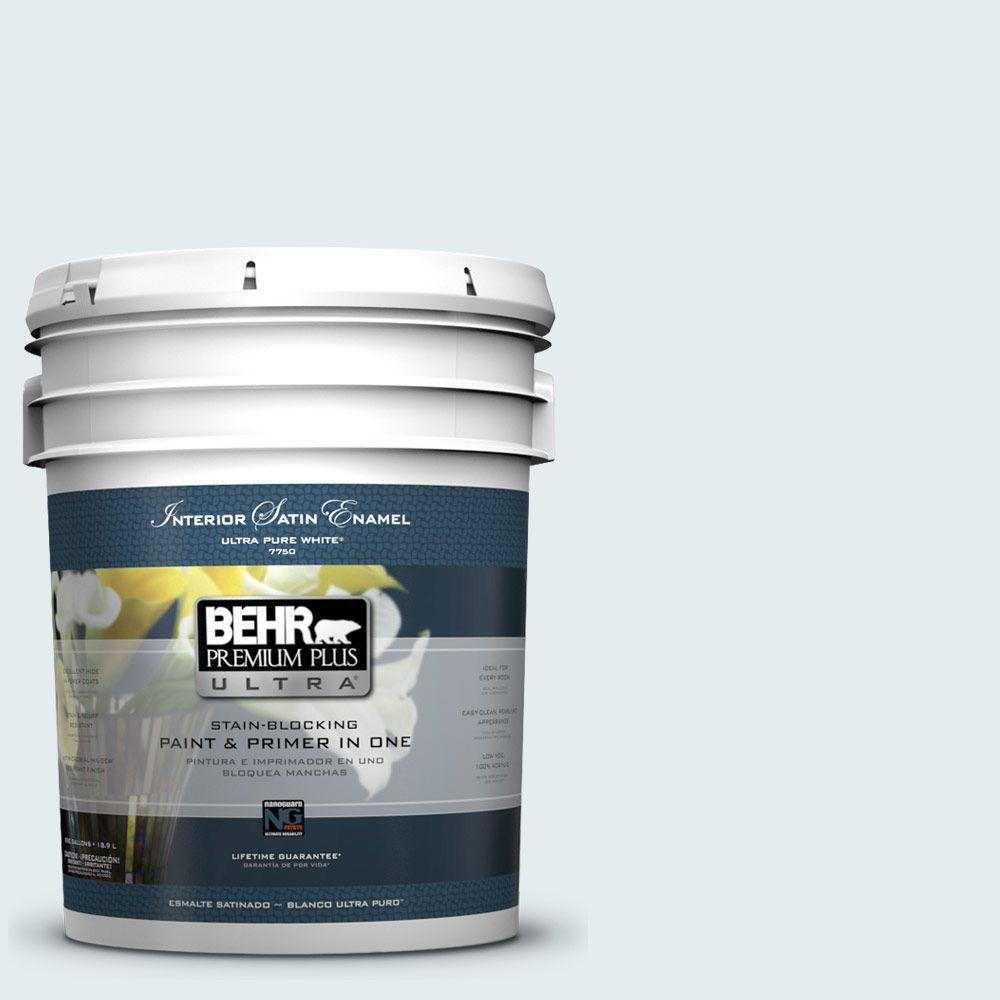 5-gal. #530E-1 White Sapphire Satin Enamel Interior Paint