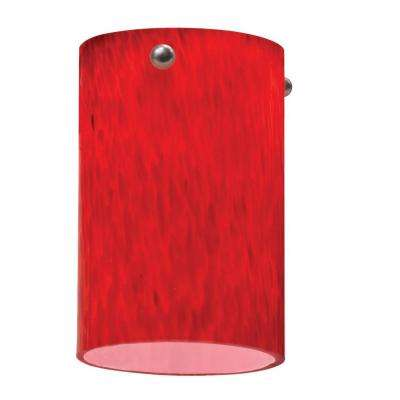 Apple Red Short Cylinder Shade LED Mini Pendant