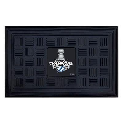 NHL - Tampa Bay Lightning 2020 Stanley Cup Champions Heavy Duty Door Mat - 19.5in. x 31in.
