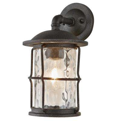 Outdoor wall mounted lighting outdoor lighting the home depot 1 light gilded iron outdoor wall mount lantern aloadofball Images