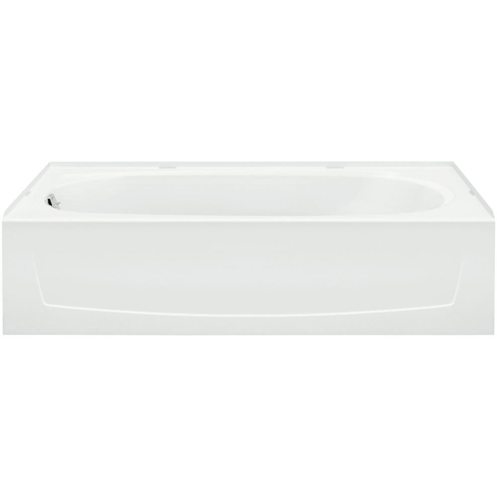 STERLING Ensemble 5 ft. Left Drain Bathtub in White