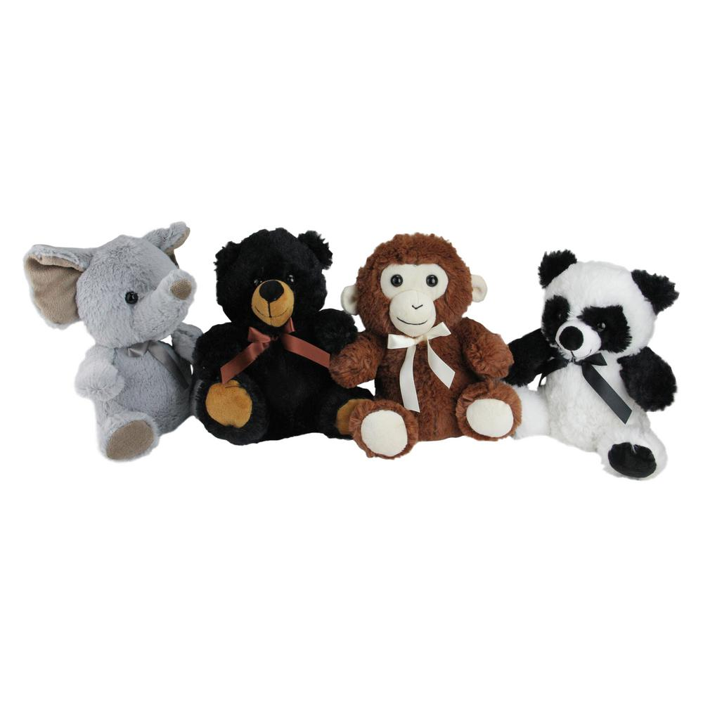 Northlight 9 In Plush Sitting Bear Elephant Monkey And Panda