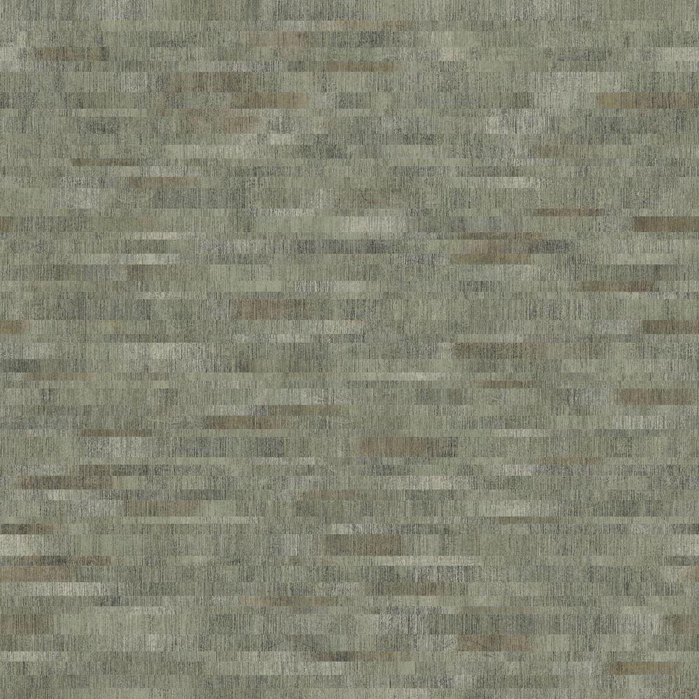 The Wallpaper Company 8 in. x 10 in. Grey Mini Subway Tile Pattern with Metallic Accents Wallpaper Sample