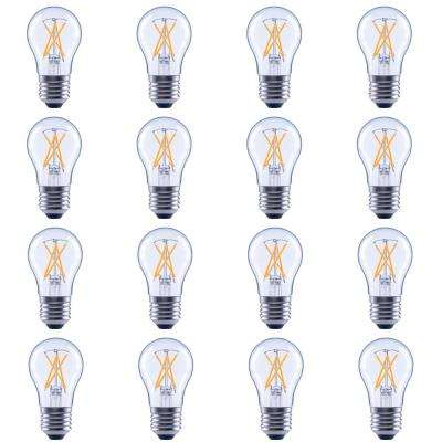 60-Watt Equivalent A15 Dimmable Clear Filament LED Light Bulb, Soft White (12-Pack)