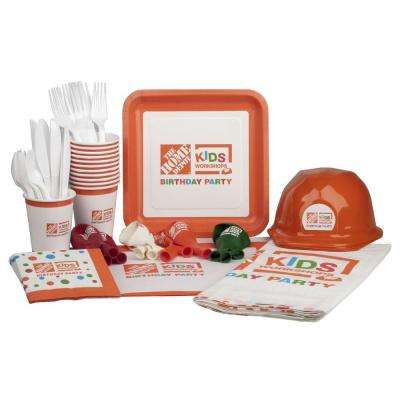 Kids Workshop Birthday Party Supplies Kit (99-Piece)
