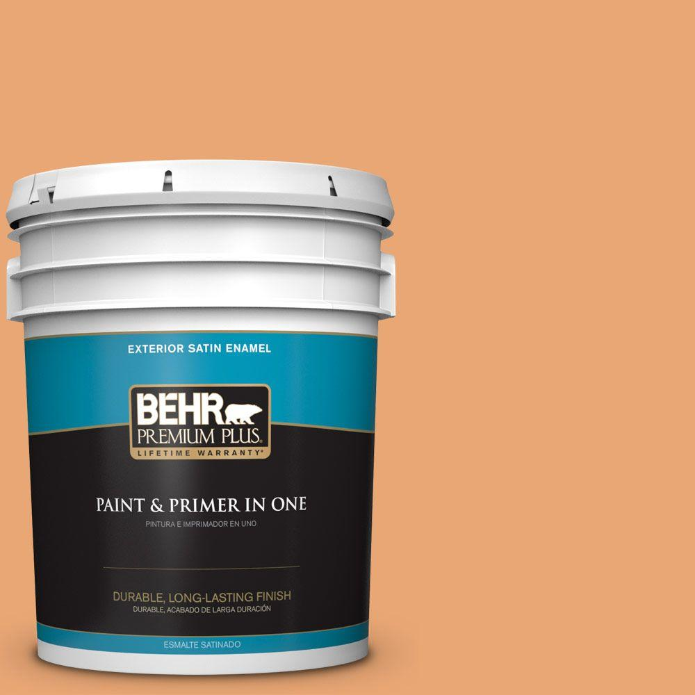 5-gal. #M230-5 Sweet Curry Satin Enamel Exterior Paint